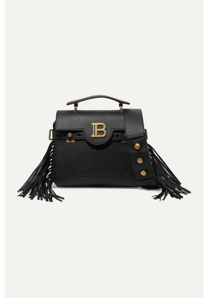 Balmain - Bbuzz Fringed Leather Shoulder Bag - Black