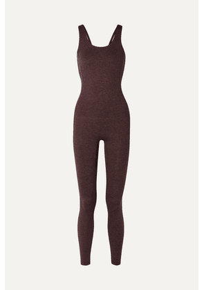We Over Me - The Flow Stretch-jersey Jumpsuit - Burgundy