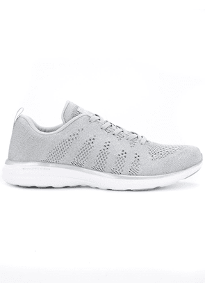 APL: ATHLETIC PROPULSION LABS perforated lace-up sneakers - Grey