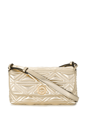 Emporio Armani faux leather quilted bag - GOLD