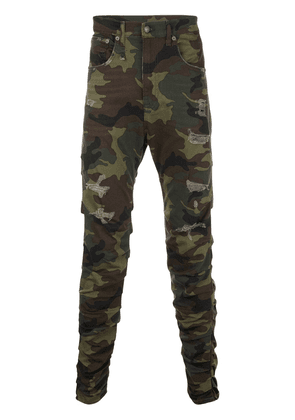 R13 camouflage ripped jeans - Green