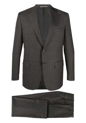 Canali windowpane check suit - Grey