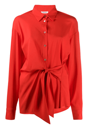 P.A.R.O.S.H. pointed collar tie-waist shirt - Red