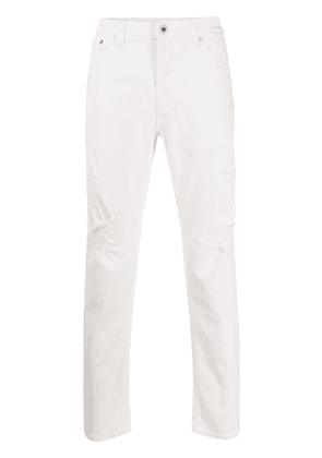 Dondup low rise cropped skinny jeans - White
