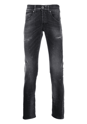 Dondup low rise distressed skinny jeans - Black