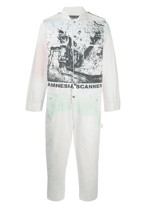 Vyner Articles graphic print jumpsuit - White