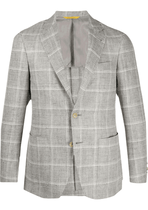 Canali checked blazer - Grey
