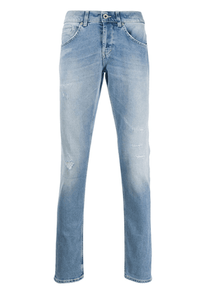Dondup straight-leg distressed jeans - Blue