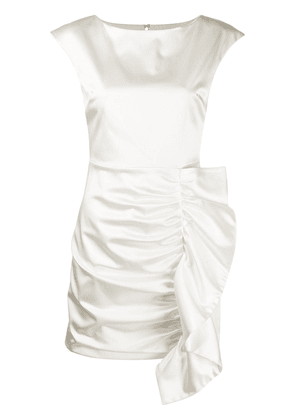 P.A.R.O.S.H. Alice ruffled mini dress - White