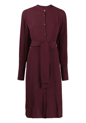 PS Paul Smith belted midi shirt dress - Red
