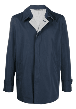 Canali short raincoat - Blue