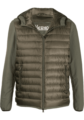 Herno panelled down jacket - Green