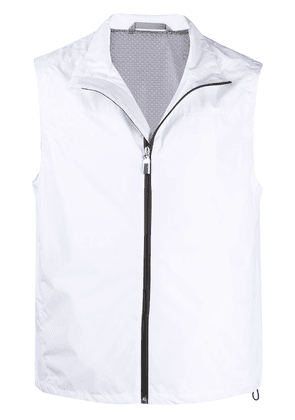 Canali zip-up lightweight gilet - White