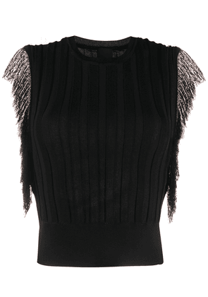 Pinko ribbed knit sleeveless jumper - Black