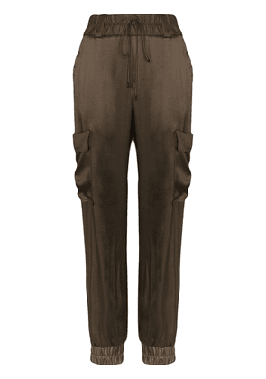 Tom Ford cargo style track trousers - Green