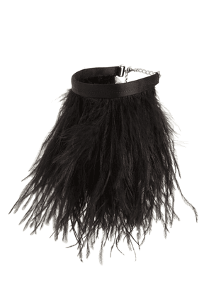 Ostrich Feather Anklet