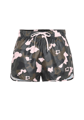 Forest Camo Run printed shorts