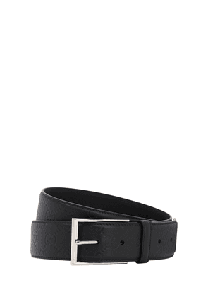 40mm Logo Leather Belt