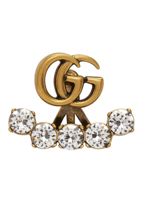 Gucci Gold Crystal Double G Single Earring