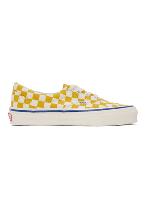 Vans Yellow and White Checkerboard Authentic Sneakers