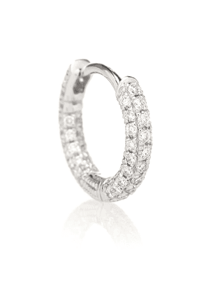 18kt white-gold single earring with diamonds
