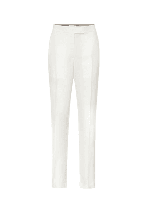 Cady high-rise straight pants
