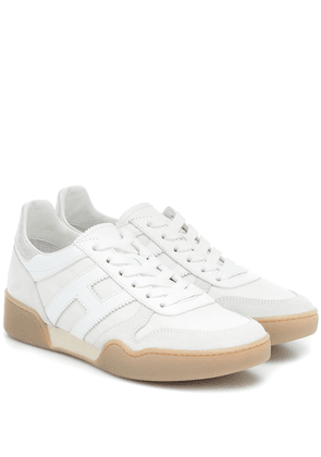H357 Retro leather sneakers