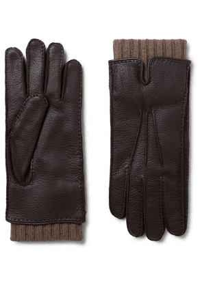 Loro Piana - Baby Cashmere-lined Leather Gloves - Brown