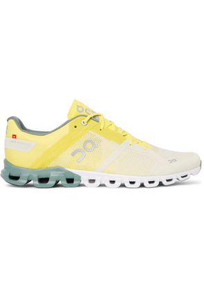 On - Cloudflow Rubber-trimmed Mesh And Shell Running Sneakers - Yellow