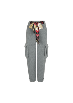 Wool-cashmere blend trousers