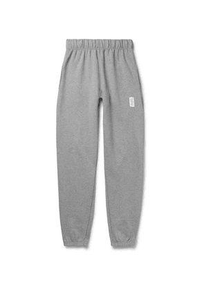 Les Girls Les Boys - Tapered Loopback Stretch-cotton Jersey Sweatpants - Gray