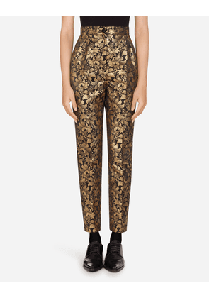 Dolce & Gabbana Trousers and Shorts - LUREX FLORAL JACQUARD PANTS MULTICOLORED