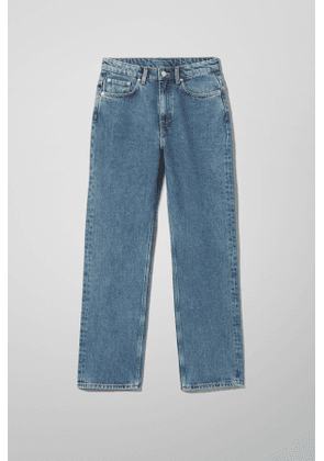 Voyage High Straight Jeans - Blue