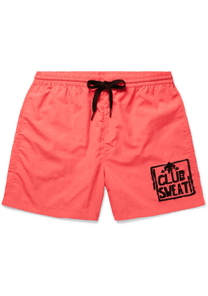 Y,IWO - Club Sweat Printed Nylon Shorts - Orange
