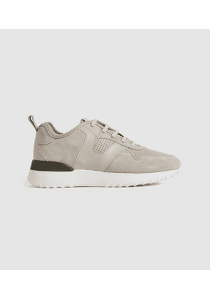 Reiss Zenna - Suede Trainers in Taupe, Womens, Size 3