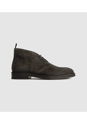 Reiss Elgin - Suede Chukka Boots in Green, Mens, Size 7