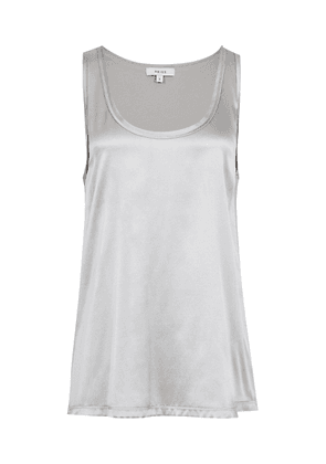 Reiss Remy - Silk-front Vest in Silver, Womens, Size XS