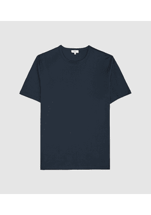 Reiss Matthew - Mercerised Egyptian Cotton T-shirt in French Blue, Mens, Size XS