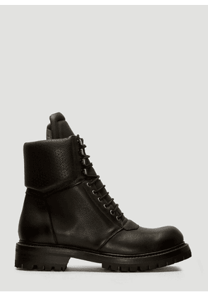 Rick Owens Army Hiking Boots in Black size EU - 44