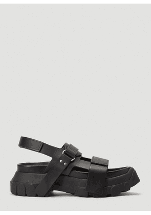 Rick Owens Tractor Leather Sandals in Black size EU - 39