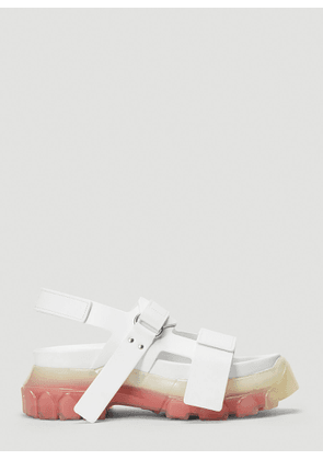 Rick Owens Tractor Leather Sandals in White size EU - 37