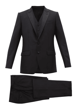 Dolce & Gabbana - Martini-fit Wool-blend Three-piece Suit - Mens - Black