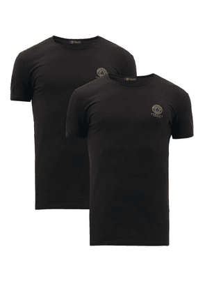 Versace - Pack Of Two Medusa-print Jersey T-shirts - Mens - Black