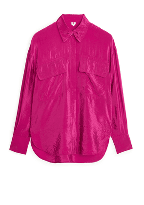Relaxed Lustrous Shirt - Pink