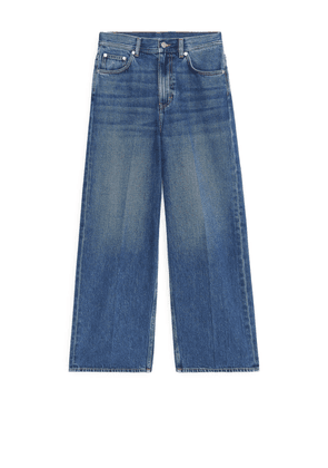 WIDE Cropped Jeans - Blue