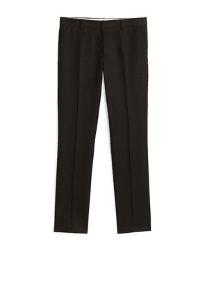 Slim Trousers Wool Twill - Brown
