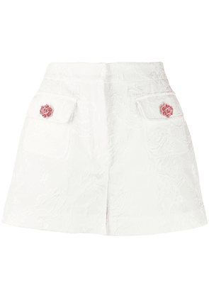 Brocade Shorts With Jewels Buttons