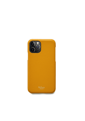 Mulberry iPhone 11 Pro Cover in Deep Amber Small Classic Grain