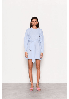 Womens **Pale Blue Belted Pastel Dress By Glamorous - Pale Blue, Pale Blue