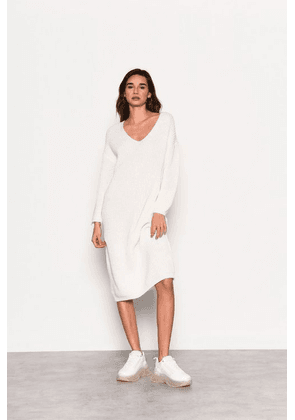 Womens **Ecru Knitted Midi Jumper Dress By Glamorous - Off White, Off White